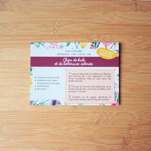 carte recette Plumti.lab - chips de kale et betteraves colorées