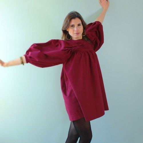 Patron de couture robe bordeaux nekkar