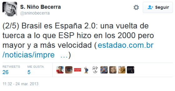 SNB 'Brasil es España 2.0'