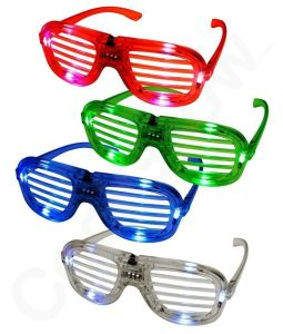 Best Rave Sunglasses Fun Central T001 LED Light Up Slotted Shades