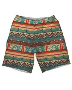 Rave Outfits for Guys Desert Tribal Premium All Over Print Weekend Rave Shorts