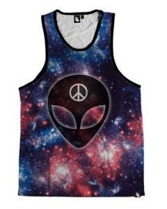 Rave Outfits for Guys We Rave in Peace Alien Tank