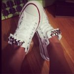 Converse Custom Studded Chucks