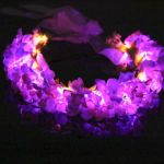 Purple LED Light Up Flower Crown