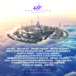 dreanstate san francisco lineup