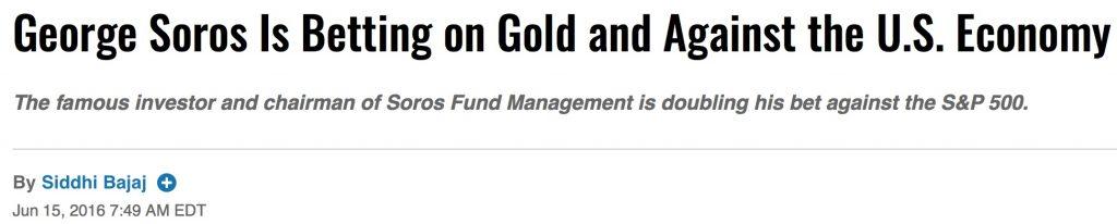 prévisions boursières soros actions or