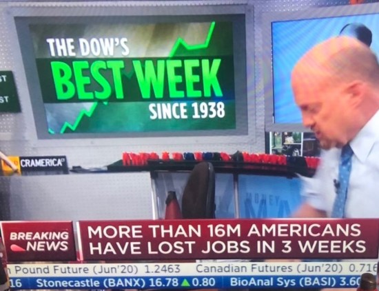 dow best week on bad news