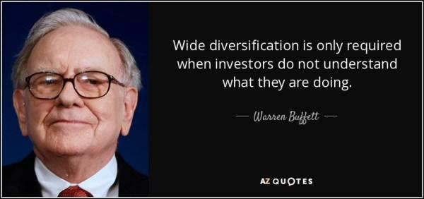 Warren Buffett citation diversification
