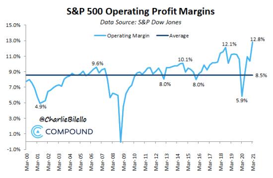 S&P Profits marges 2021