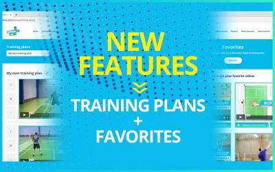 New features – Plans + Favorites
