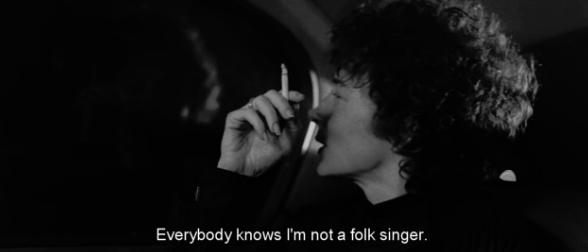 "Bob Dylan. ""Todo el mundo sabe que no soy un cantante de folk"". I'm Not There."