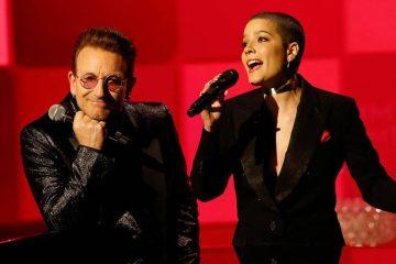 Halsey, Brandon Flowers de The Killers, Bono y más acompañaron a Jimmy Kimmel en su programa a beneficio de la fundación (RED). Cusica Plus