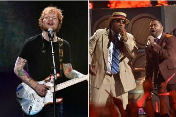 "Escucha remix de ""Shape of You"" de Ed Sheeran por Zion y Lennox. Cusica plus"