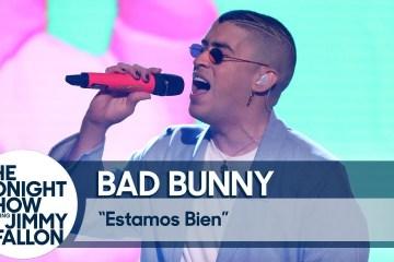 """Bad Bunny se presentó en el Show de Jimmy Fallon, y dedicó """"Estamos Bien"""" a Puerto Rico. Cusica Plus."""