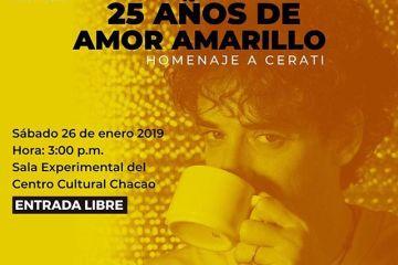 Las sesiones V-Rock llegan nuevamente con '25 años de Amor Amarillo'. Cusica Plus.