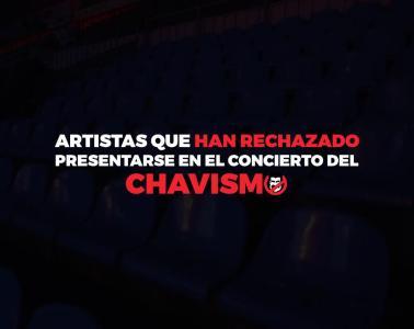 Artistas que han rechazado presentarse en el concierto del chavismo este 22 de febrero. Cusica Plus.