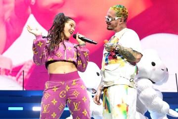 """J Balvin se juntó con Rosalía en el Coachella para cantar """"Con Altura"""". Cusica Plus."""