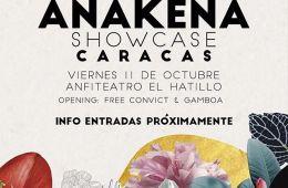 Anakena anuncia showcase de su disco debut en Caracas. Cusica Plus.
