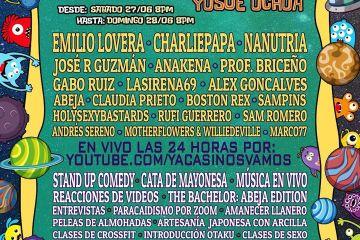 La música y la comedia estarán presentes en el 'YacasiPalooza 2020'. Cusica Plus.