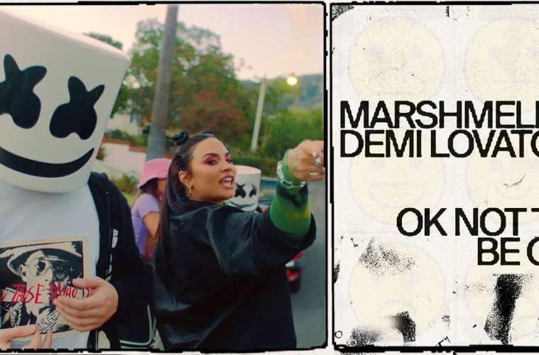 Marshmello y Demi Lovato combaten el suicidio en su nuevo tema 'Ok Not Be Ok'. Cusica Plus.