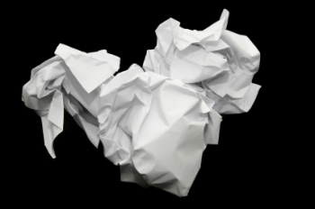 A crumpled piece of paper