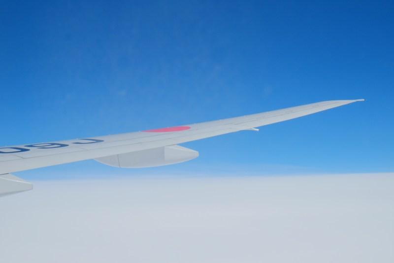 飛行機と雲_JL29便_東京羽田→香港