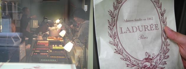 Laduree ラデュレ を歩き食べ カラフル