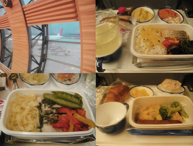 JL406 パリ⇒成田 機体と機内食
