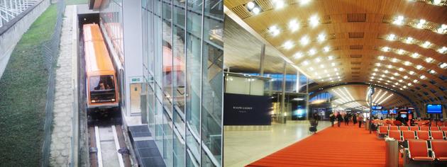 シャルルドゴール空港 CDGVALでターミナル間移動。2Eターミナル