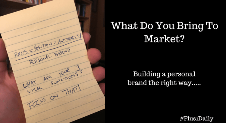 What Do You Bring To Market-
