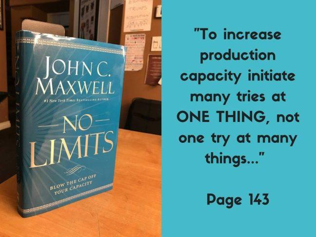 John C. Maxwell No Limits book