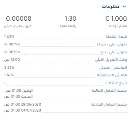 معلومات حول أزواج العملات
