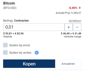Bitcoins kopen Plus500