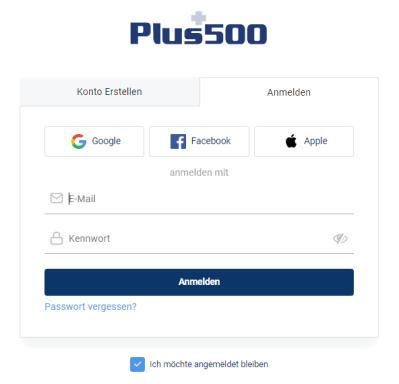 Eröffne ein Plus500 Konto