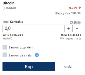 Kup Bitcoiny Plus500