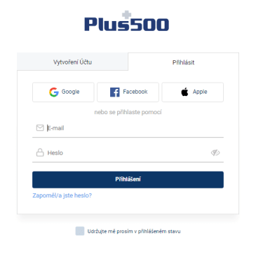 Otevřít Plus500 účet