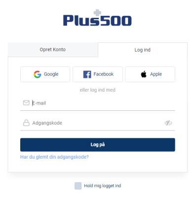 PLUS500 TILMELD