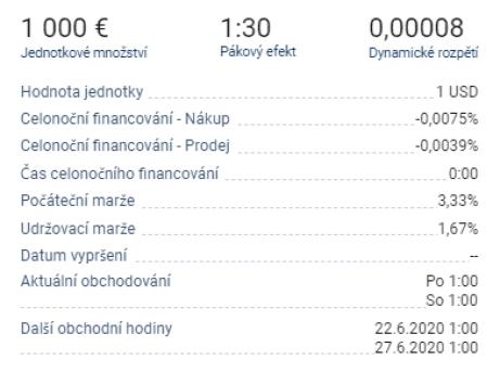 informace o měnovém páru