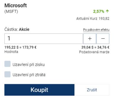 obrazovka s příkazy Plus500 hodnocení