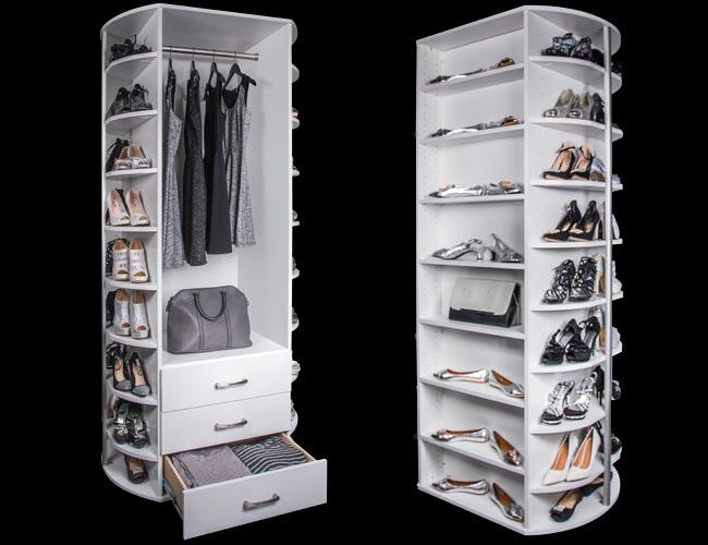 Plus Closets 360 Organizer By Lazy Lee Rotating Closet System