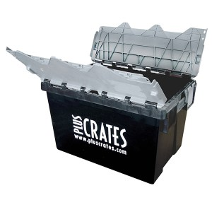 L2C Lidded Crate - Open - Pluscrates logo