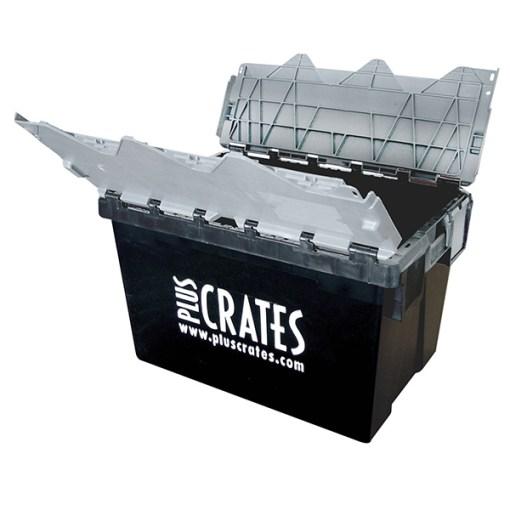 L2C Lidded Crate - Open - Pluscrates logo