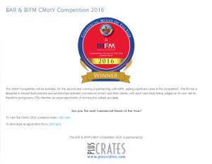 BAR & BIFM cmoty 2016 press release