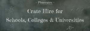 Chalkboard with text - Pluscrates Crate Hire for schools, colleges & universities