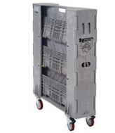 Hire Folding Plastic Library Trolley - Folded