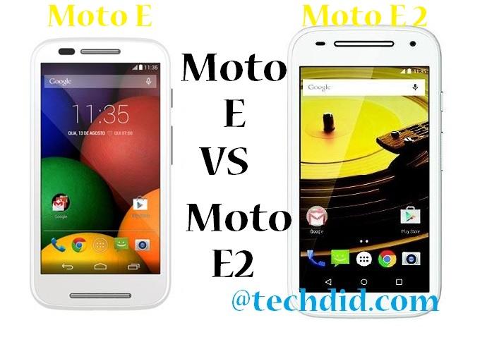 Moto E vs Moto E 2