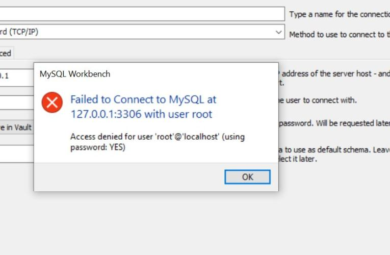 "How to solve Error ""Access denied for user 'root'@'localhost'"" of MySql"