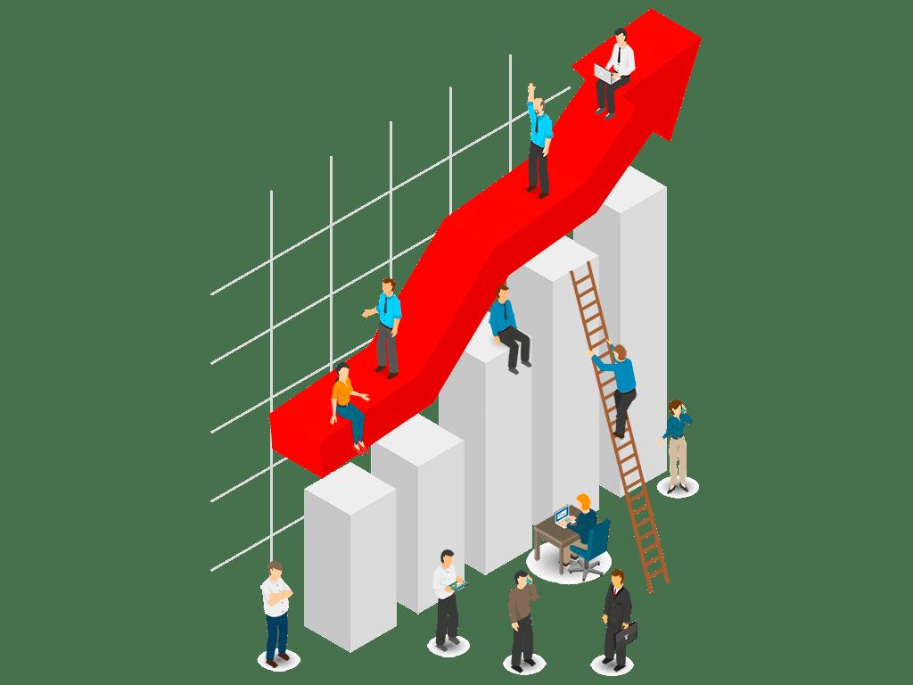 crecimiento de cliente con PLUSER exponencial