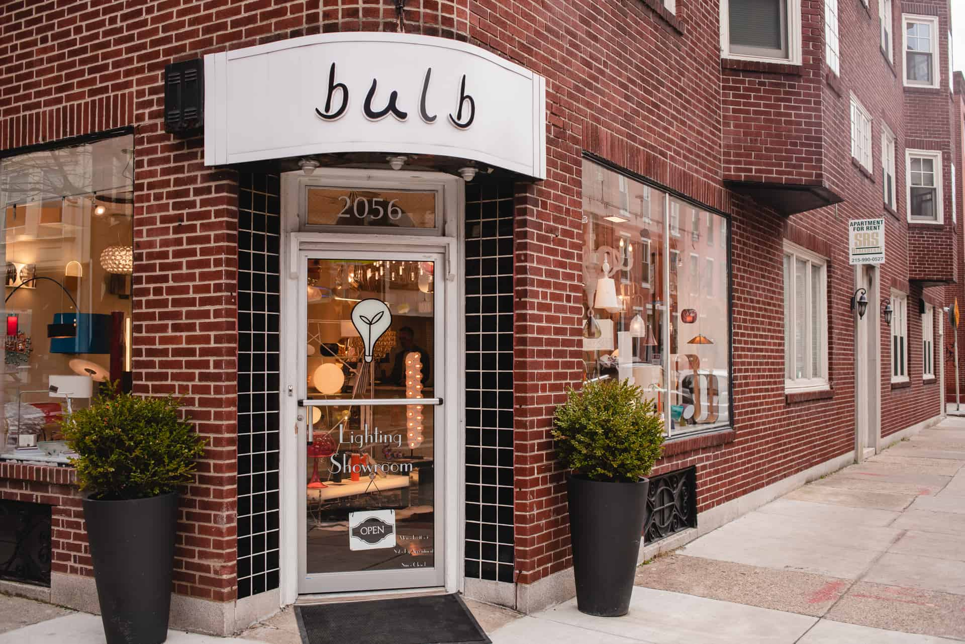 Photograph of lighting retailer Bulb, in Philadelphia, PA