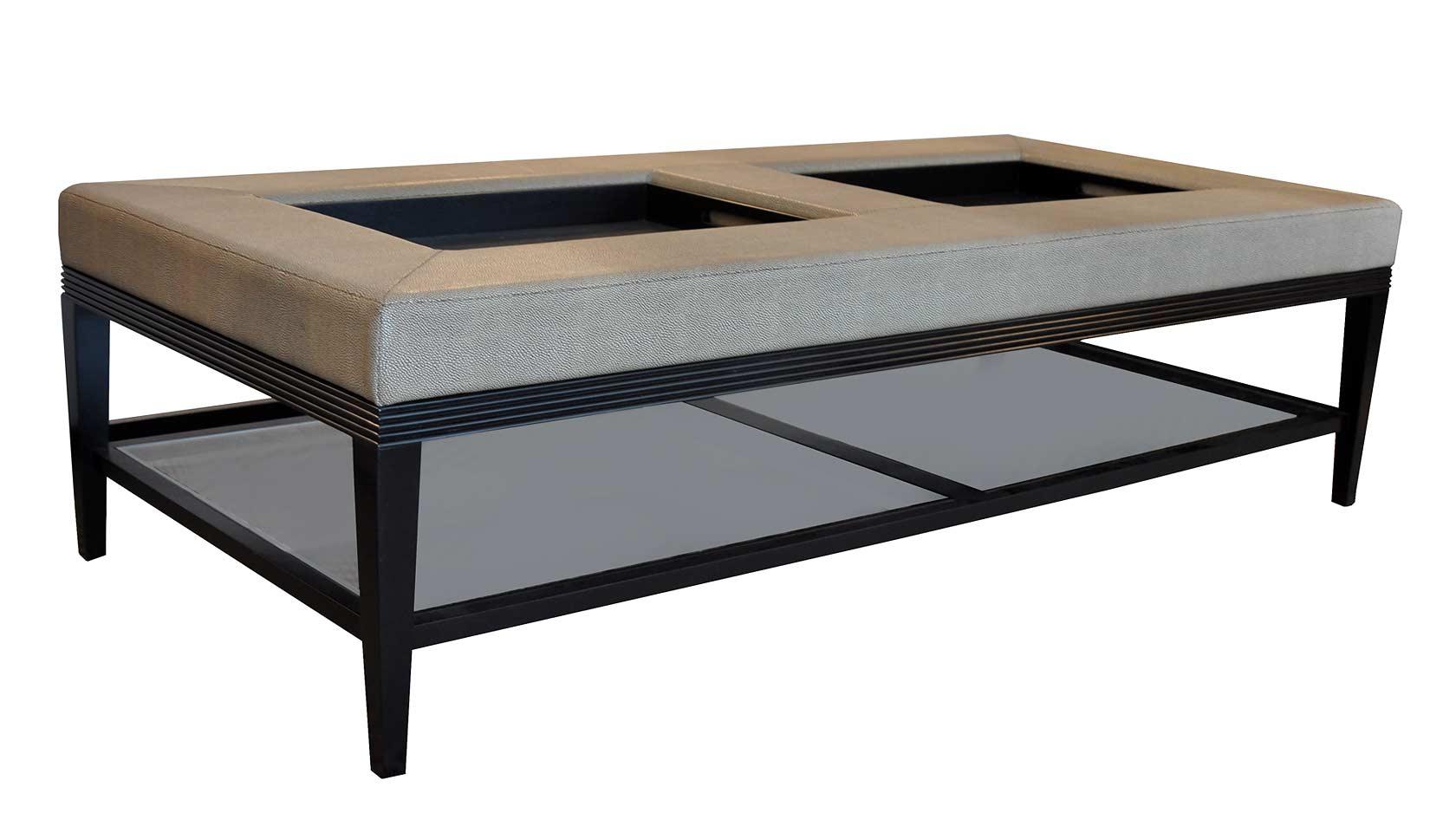 carlisle double coffee table ottoman